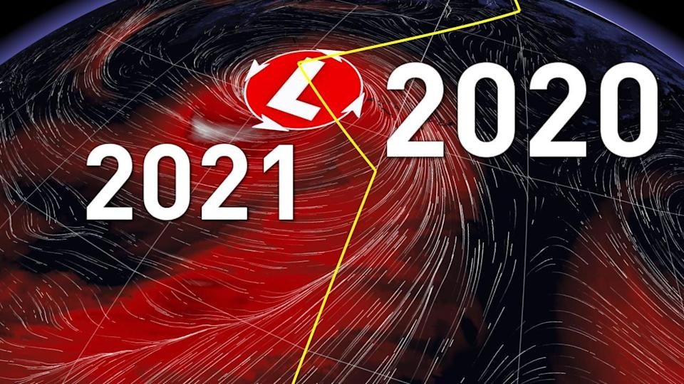 Time-bending monster storm sends air swirling between 2020 and 2021