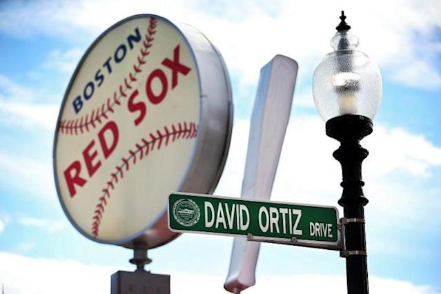 David Ortiz Drive is now open outside Fenway Park. (Getty Images)