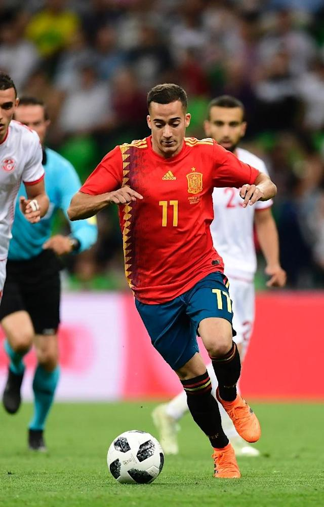 Spain midfielder Lucas Vazquez has a VAR doppelganger according to teammate Sergio Ramos (AFP Photo/PIERRE-PHILIPPE MARCOU)