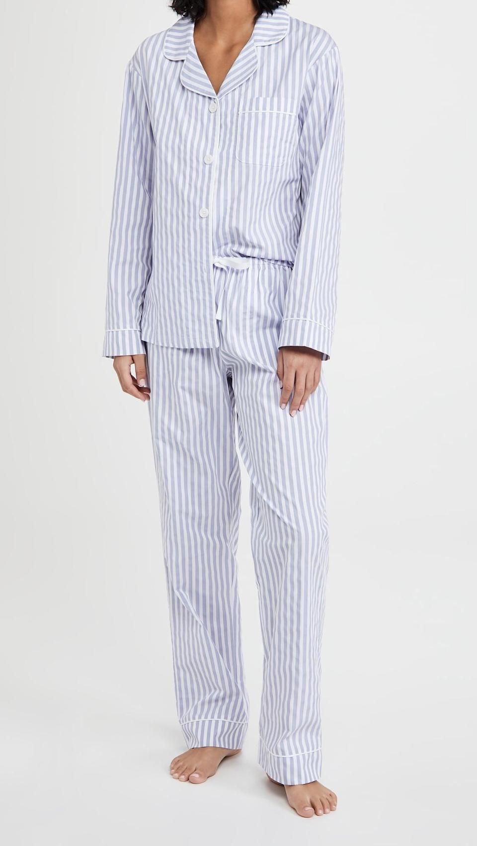<p>This <span>BedHead Pajamas Classic Stripe Pajama Set</span> ($120) is a classic.</p>