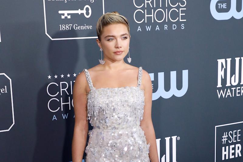 Florence Pugh attends the 25th Annual Critics' Choice Awards at Barker Hangar on January 12, 2020. (Photo by Taylor Hill/Getty Images)