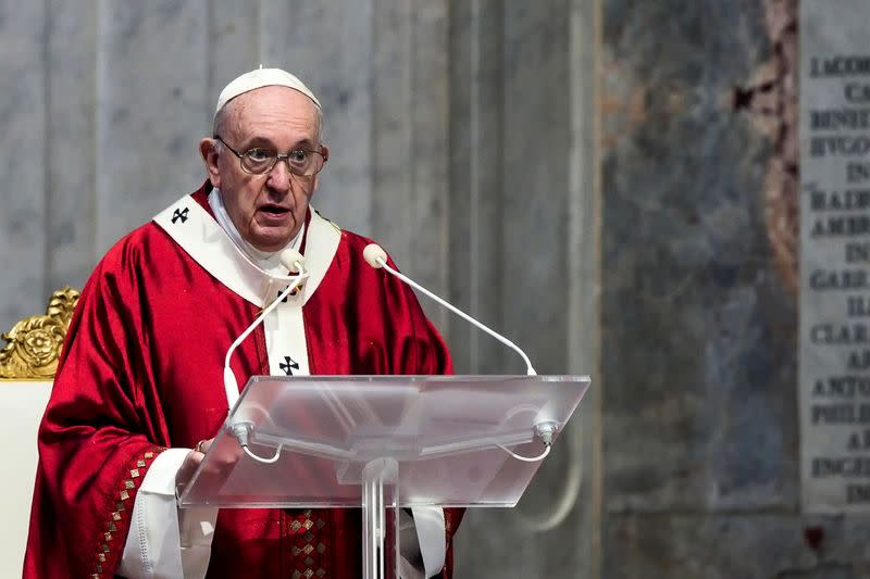 Libyan migrant centres are like concentration camps, pope says