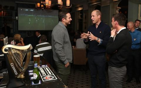 Duke of Cambridge chatting at the Heads Up Campaign - Credit: Chris Jackson/PA