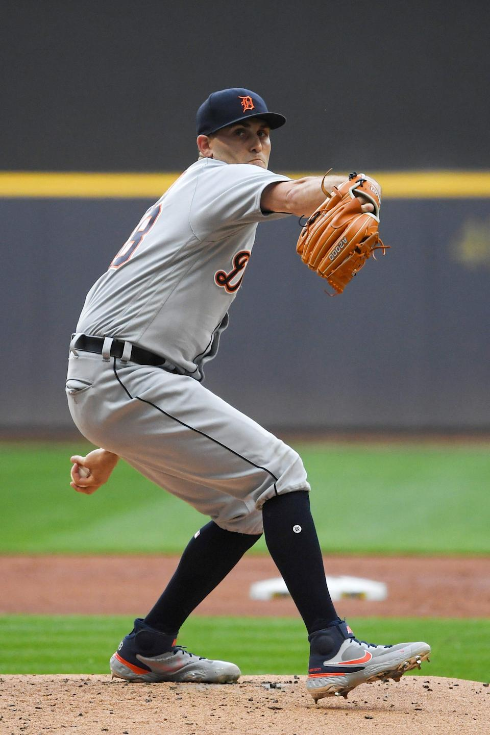 Tigers pitcher Matthew Boyd throws in the first inning on Tuesday, June 1, 2021, in Milwaukee.