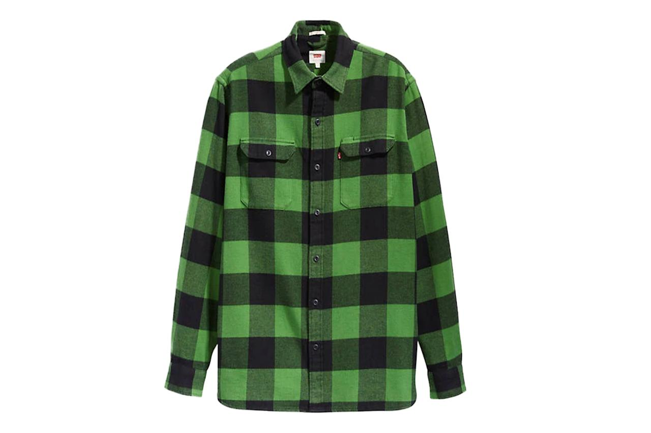 "$70, Levi's. <a href=""https://www.levi.com/US/en_US/apparel/clothing/tops/checked-jackson-worker-shirt/p/195730095"">Get it now!</a>"