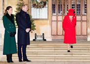 <p>Due to COVID-19 restrictions, the royal family did not travel to Sandringham for the 2020 Christmas season. However, the Duke and Duchess joined Queen Elizabeth outside of Windsor Castle to wish the nation a happy holiday. </p>
