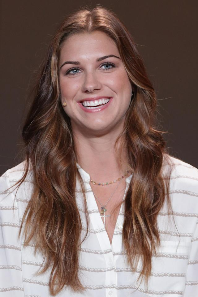 ZURICH, SWITZERLAND - JANUARY 07: Alex Morgan of the United States attends the Press Conference with nominees for Women's World Player of the Year and World Coach of the Year for Women's Football on January 7, 2013 at Congress House in Zurich, Switzerland. (Photo by Christof Koepsel/Getty Images)