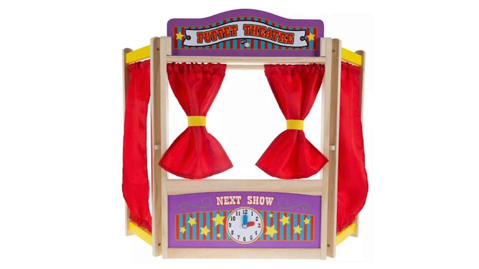 "<p>Hey! Play! Kids Wooden Tabletop Puppet Theater</p><div class=""cnn--image__credit""><em><small>Credit: CNN</small></em></div>"