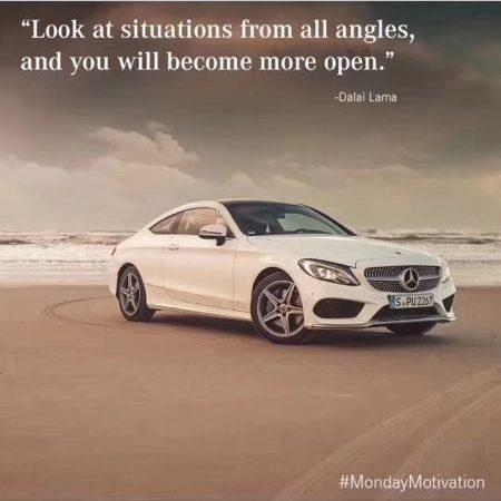 Mercedes' seemingly benign post to its official Instagram account showed a Benz on a beach before rolling white-capped waves
