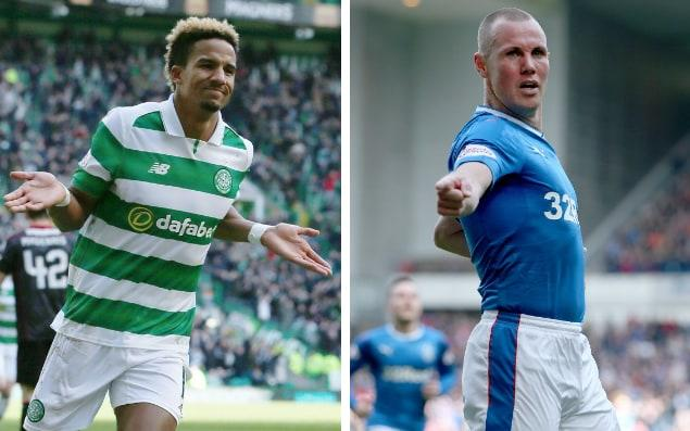 Celtic's Scott Sinclair and Rangers' veteran Kenny Miller go head to head in Sunday's Scottish Cup semi-final - PA
