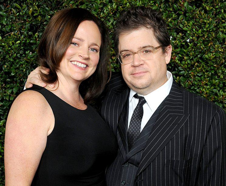 Patton Oswalt and wife Michelle McNamara arrive at the