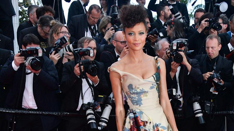 The actress made a stellar fashion statement at the French film festival on Tuesday.
