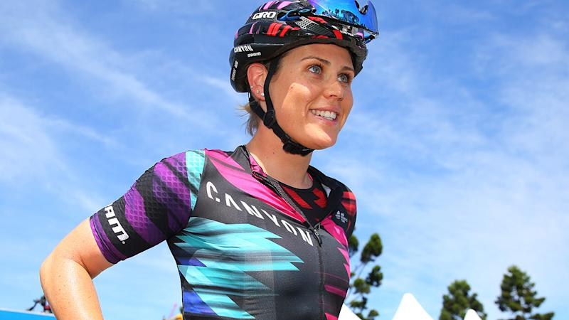 Tiffany Cromwell, pictured here at the Cadel Evans Great Ocean Road Race in 2017.