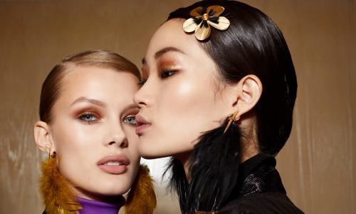 The beauty spot: look ahead with glistening, golden eyes