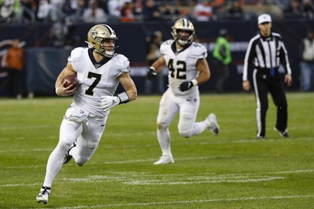 Saints' FB-to-QB option had its roots in Dallas ... and in Zach Line's high school resumé