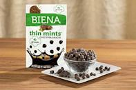 <p>Girl scout season is upon us, but if you're gluten free, you can still indulge with these genius <span>Biena Girl Scouts Thin Mints Dark Chocolate Crunchy Chickpea Snacks</span> ($42 for 8).</p>