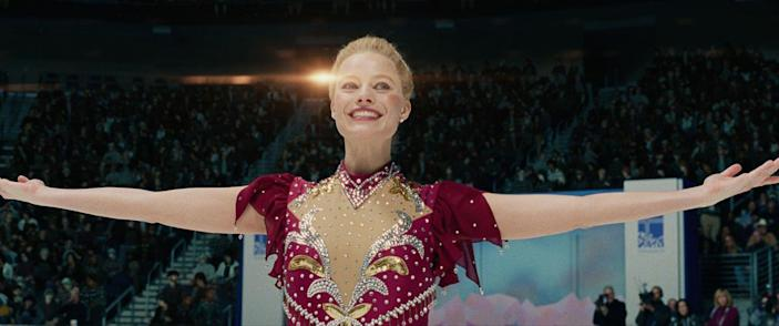 "<p>No, that wasn't Tonya Harding portraying herself in <em>I, Tonya</em>. Margot Robbie had moviegoers convinced when she portrayed the figure skater in the 2017 drama. To get into triple axel shape, the Australian actress <a href=""https://www.usatoday.com/story/sports/ftw/2017/12/04/margot-robbie-didnt-realize-she-injured-her-neck-training-for-i-tonya/108297548/"" rel=""nofollow noopener"" target=""_blank"" data-ylk=""slk:trained"" class=""link rapid-noclick-resp"">trained</a> four hours a day, five days a week for five months.</p>"