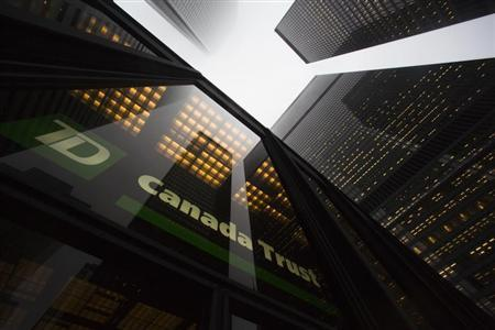 A TD Canada Trust building is seen in the financial district in Toronto