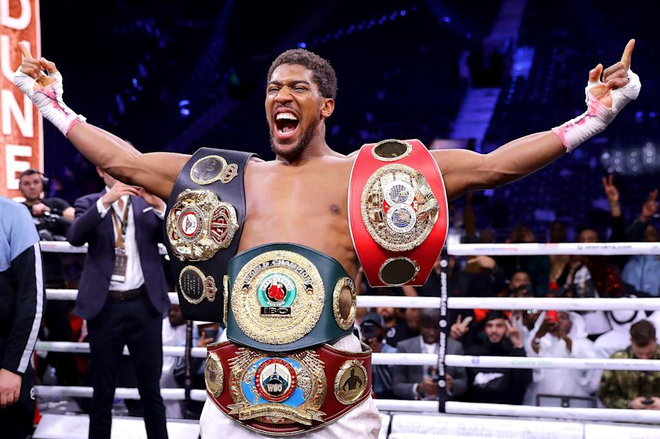 <p>Anthony Joshua has not fought since regaining his heavyweight titles against Andy Ruiz Jr in Saudi Arabia last year</p> (Getty Images)