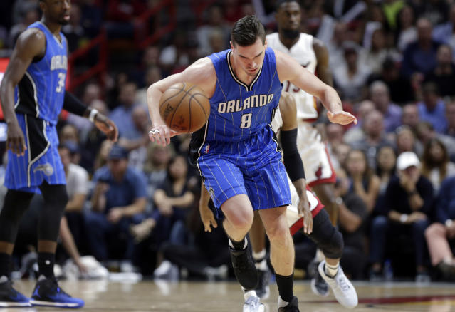 "<a class=""link rapid-noclick-resp"" href=""/nba/teams/orl/"" data-ylk=""slk:Orlando Magic"">Orlando Magic</a> guard <a class=""link rapid-noclick-resp"" href=""/nba/players/5465/"" data-ylk=""slk:Mario Hezonja"">Mario Hezonja</a> has failed to live up to the hype that arrived with him from Europe. (AP Photo/Lynne Sladky)"