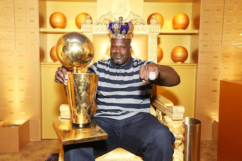 Shaquille O'Neal at NBA All-Star Weekend 2018 (Phillip Faraone/Getty)