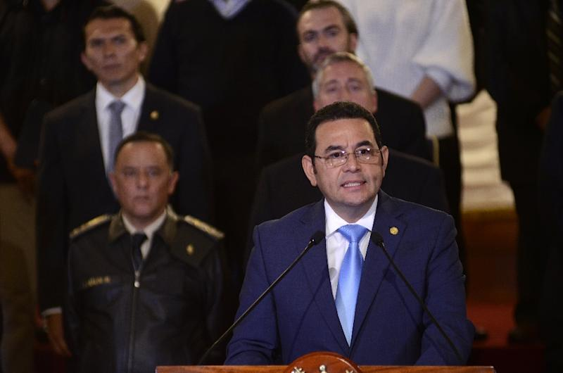Guatemalan President Jimmy Morales is shutting down a UN-sponsored mission to investigate corruption in the Central American country (AFP Photo/NOÉ PÉREZ)