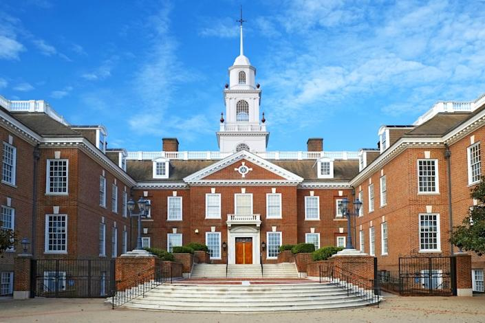 State Capitol Building, Dover, Deleware. (Getty Images)