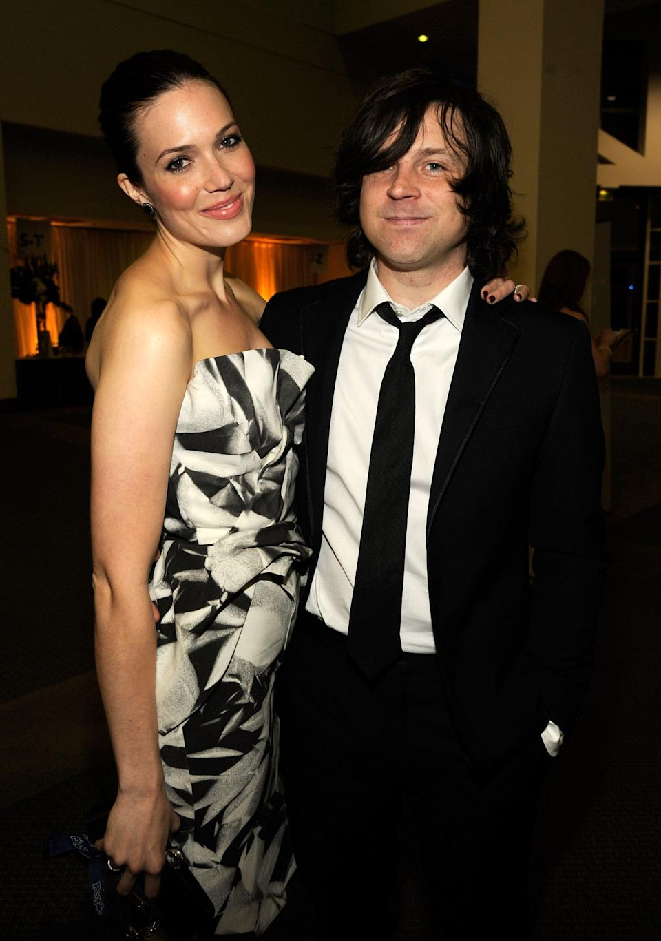 Mandy Moore and Ryan Adams, then a married couple, in 2012. (Photo: Kevin Mazur via Getty Images)