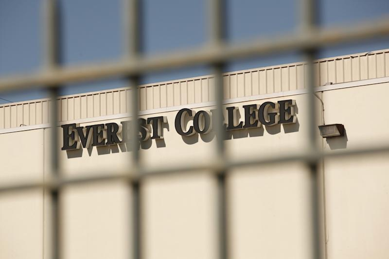 Everest College is seen through the outer gates on April 27, 2015 in Alhambra, California. Corinthian Colleges Inc., a Santa Ana company that was once one of the nation's largest for-profit college chains. (Photo: Al Seib / Los Angeles Times via Getty Images)