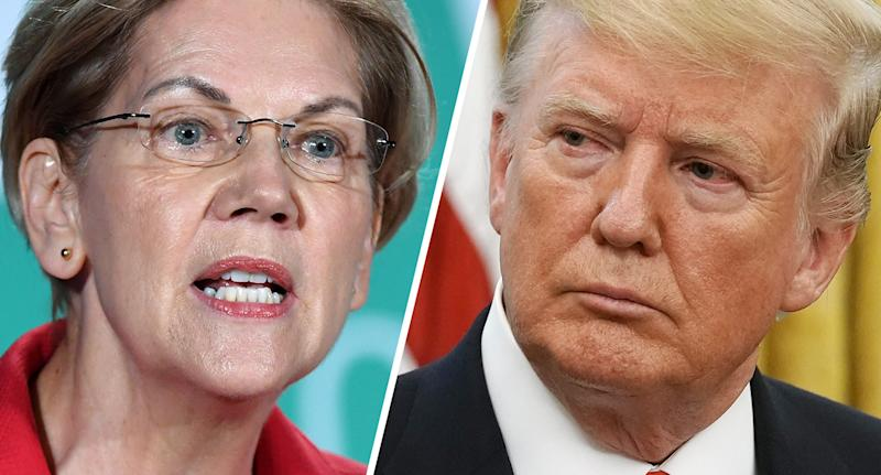 Elizabeth Warren and President Trump. (Photos: Ethan Miller/Getty Images, Chip Somodevilla/Getty Images)