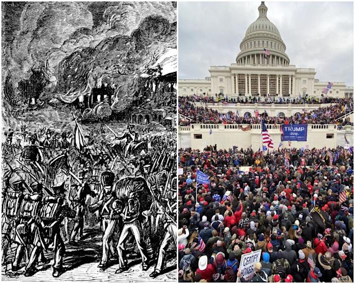 capitol storming war of 1812