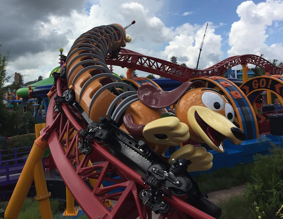 Slinky Dog Dash is the signature ride in the new 11-acre Toy Story Land at Disney's Hollywood Studios.