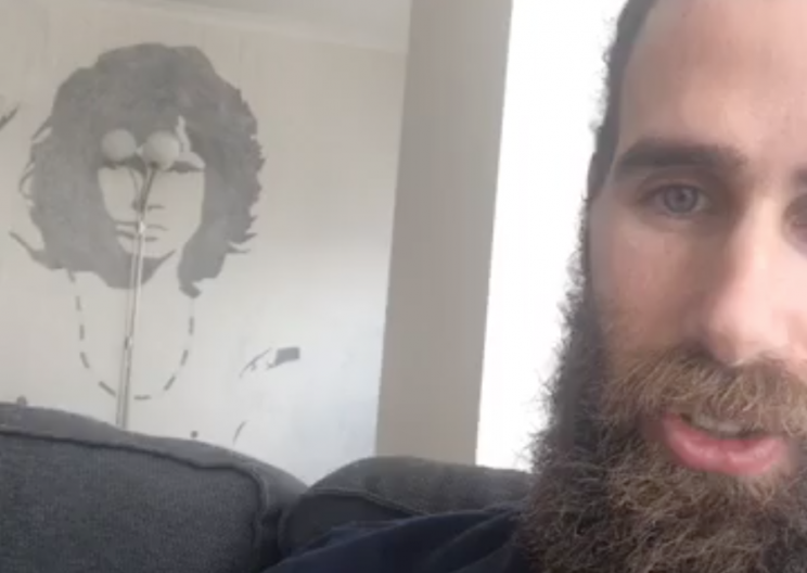 Gigi Datome wasn't about to leave Jim Morrison out of his championship celebration. (Facebook)