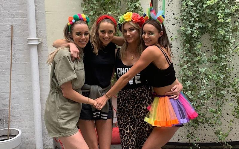 The Hartridge sisters at Pride 2019, the last time they were all together. From left: Alice, Jess, Charlotte, Emily