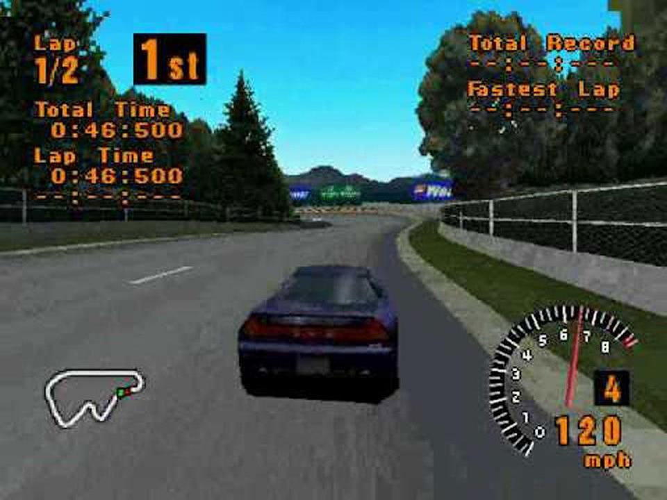 <p><em>Gran Turismo</em> is no <em>Crusin' USA</em>. The racing game has eleven different race tracks and 140 vehicles. It took around five years to develop before being released due to the ridiculous precision with which the real-life cars and tracks were simulated. In the Arcade Mode you're free to choose your car and course. In Simulation Mode, you're competing as driver would, and need to earn trophies and money to advance to the higher levels. </p>