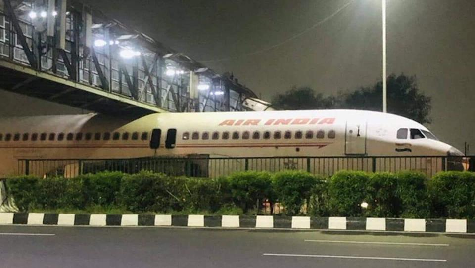 Video showing Air India plane stuck under overbridge goes viral