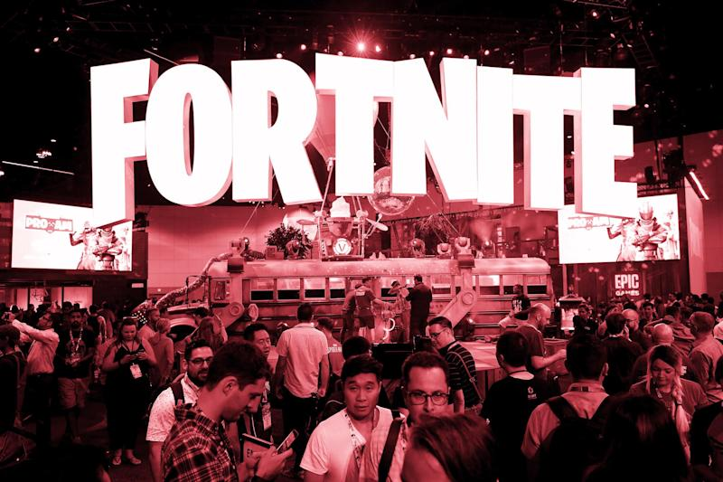 Game enthusiasts and industry personnel visit the 'Fortnite' exhibit during the Electronic Entertainment Expo E3 at the Los Angeles Convention Center: Christian Petersen/Getty Images