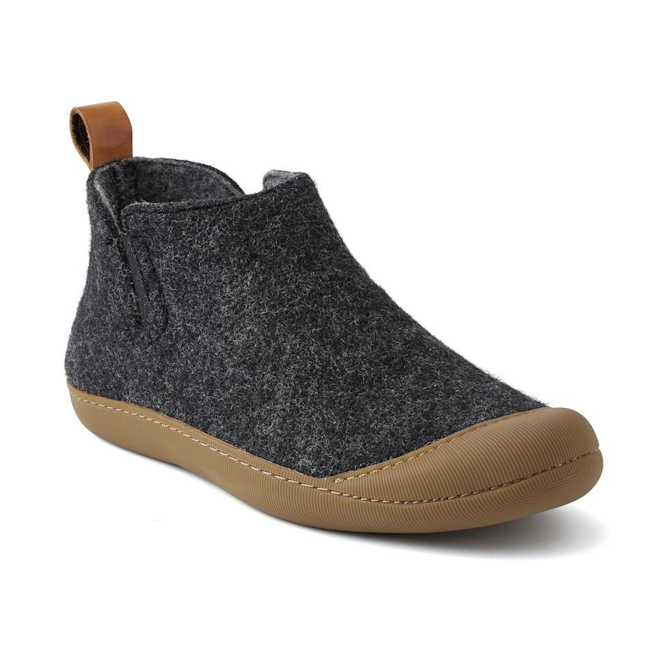 """<p><strong>Greys</strong></p><p>huckberry.com</p><p><strong>$108.00</strong></p><p><a href=""""https://go.redirectingat.com?id=74968X1596630&url=https%3A%2F%2Fhuckberry.com%2Fstore%2Fgreys%2Fcategory%2Fp%2F64882-the-outdoor-slipper-boot&sref=https%3A%2F%2Fwww.esquire.com%2Fstyle%2Fmens-fashion%2Fg34487003%2Fhuckberry-fall-mens-essentials%2F"""" rel=""""nofollow noopener"""" target=""""_blank"""" data-ylk=""""slk:Shop Now"""" class=""""link rapid-noclick-resp"""">Shop Now</a></p>"""