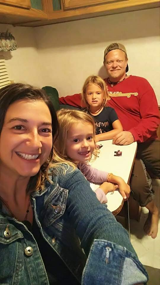 Jerry Dunham and Krista Lambier with their two daughters, Reydian and Atlin. Image courtesy of Krista Lambier.