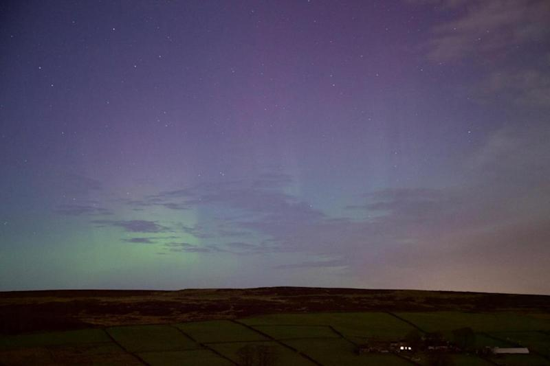 Beautiful image: The Aurora Borealis spotted in Oxenhope, West Yorkshire (PA)