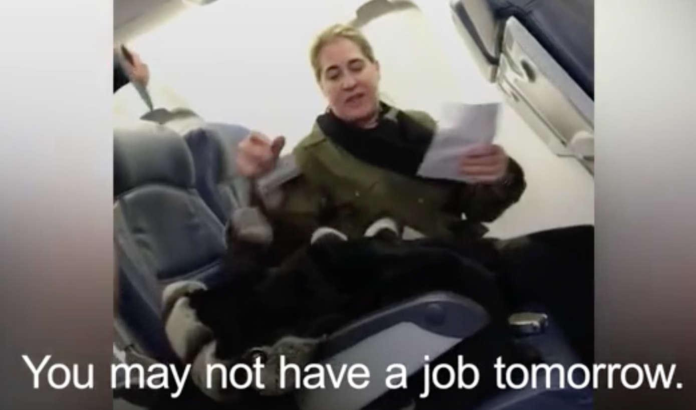 Woman Filmed Berating Flight Attendant on Plane Gets Suspended From Job