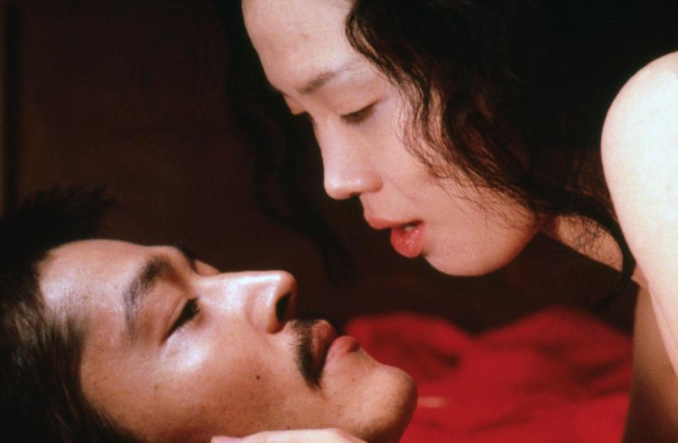 <strong><em><h3>In the Realm of the Senses </h3></em></strong><h3>(1976)<br></h3><br>The only adjective you really need to describe this movie is sexy. Super, super sexy. The beautiful, artistic movie takes place in 1930s Japan, and is about a passionate and destructive affair between Sada Abe (Eiko Matsuda) and her employer, Kichizo Ishida (Tatsuya Fuji). It features unsimulated (aka real) sex.