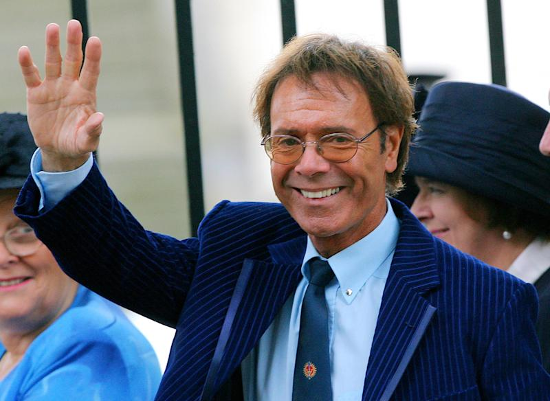 In a file picture taken on August 31, 2007 British pop singer Sir Cliff Richard arrives for the memorial service marking the 10th anniversary of princess Diana in London