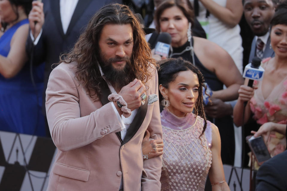 91st Academy Awards - Oscars Arrivals - Red Carpet - Hollywood, Los Angeles, California, U.S., February 24, 2019. Actors Jason Momoa and Lisa Bonet. REUTERS/Lucas Jackson