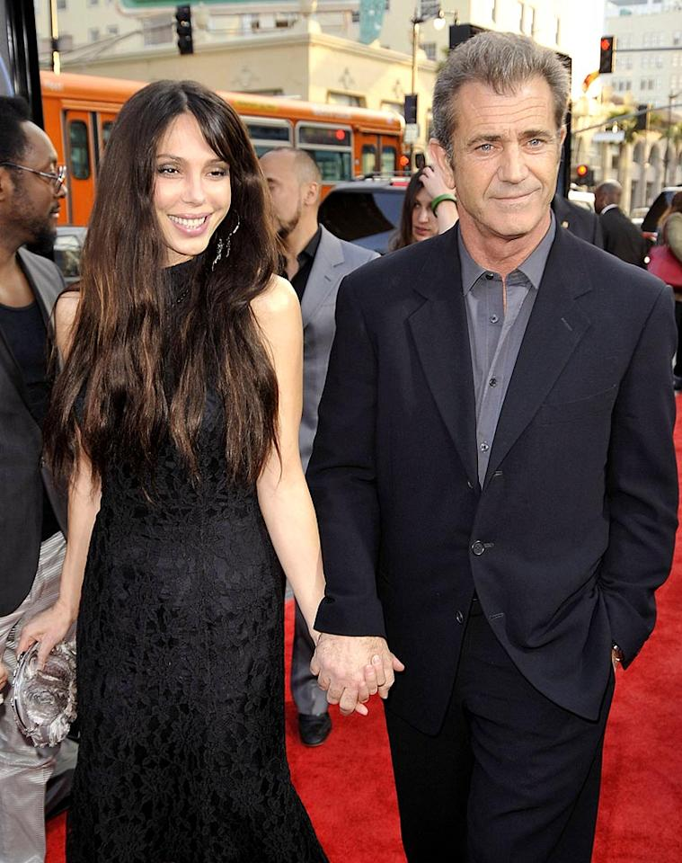 "Mel Gibson became a father for the eighth time when his girlfriend, musician Oksana Grigorieva, gave birth to a baby girl, Lucia, on October 30, in LA. Gibson has seven children (six sons and a daughter) with his ex-wife Robyn, while Oksana, has a son, Alexander, with her former boyfriend, actor Timothy Dalton. Kevin Winter/<a href=""http://www.gettyimages.com/"" target=""new"">GettyImages.com</a> - April 28, 2009"