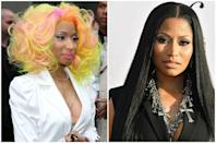 <p>When Nicki first started her career, her out-there beauty looks were just as popular as her rapid-fire raps. As soon as she decided to attend the premiere for <em>The Other Woman </em>in barely-there makeup, though, she made it known that a more understated look is just as flawless. </p>
