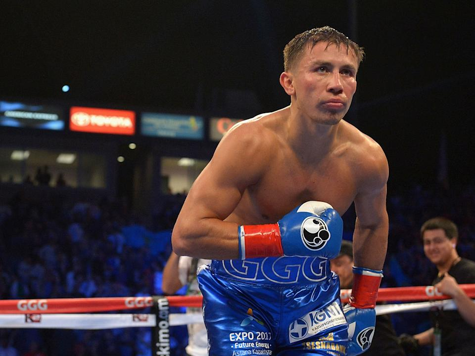 <p>Golovkin is looking to get back on form after a year out</p>Getty