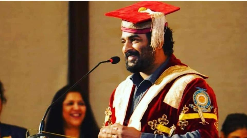 R Madhavan receives honorary degree for contribution to arts, cinema