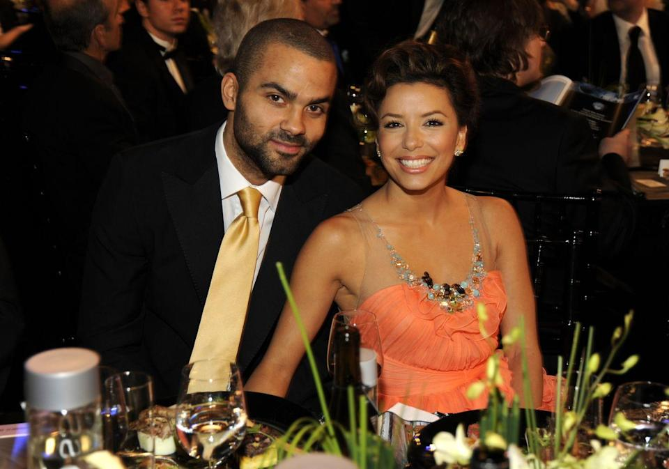 "<p>Eva Longoria met her now ex-husband, Tony Parker, in the locker room of a San Antonio Spurs game that she attended with her father. After taking them both to dinner, Tony and Eva started dating. Three years after meeting, the couple <a href=""https://www.eonline.com/news/55577/Eva_and_Tony_Say__amp_lt_i_amp_gt_Mais_Oui_amp_lt__i_amp_gt__to_Marriage"" rel=""nofollow noopener"" target=""_blank"" data-ylk=""slk:tied the knot in 2007"" class=""link rapid-noclick-resp"">tied the knot in 2007</a>. Amid cheating rumors, Eva<a href=""https://www.eonline.com/news/211768/eva_longoria_parker_files"" rel=""nofollow noopener"" target=""_blank"" data-ylk=""slk:filed for divorce"" class=""link rapid-noclick-resp""> filed for divorce</a> in 2010.</p>"