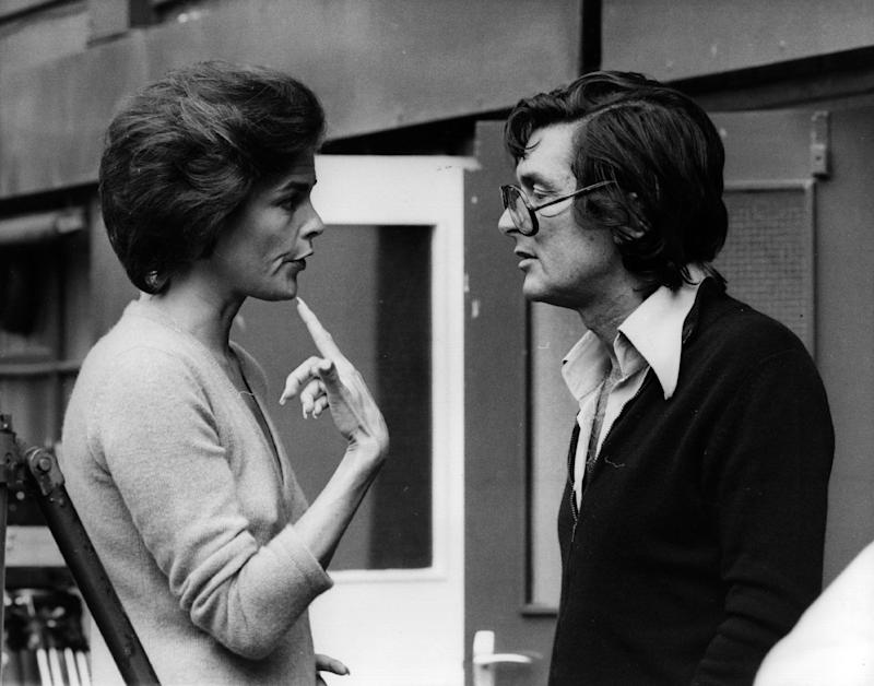 Robert Evans with Ali MacGraw at Wimbledon, for the shooting of The Players in 1978.